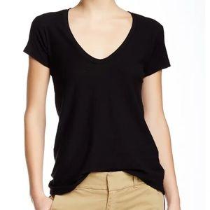 New James Perse Deep Scoop Neck T-Shirt Black